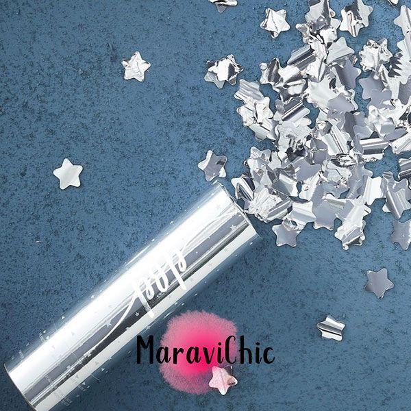 cañon confeti silver